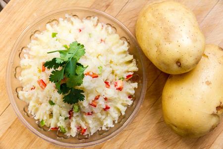 pure patatas: Pur� Foto de archivo