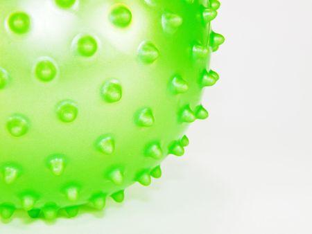 �spiked: bola de carmez� verde Foto de archivo