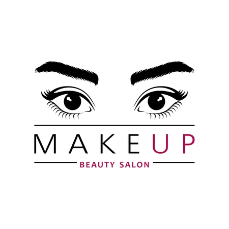 creative design for beauty studio or salon. Woman's eyes with long eyelashes and beautiful eyebrows. Banque d'images - 102558289