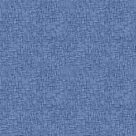 Small checker seamless pattern. Imitation of jeans, coarse fabric, interlacing of threads, canvas, linen. Blue background.