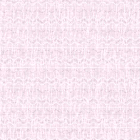 Square seamless background with abstract pattern. Light pink, white lines, waves. Pale pastel colors. Effect of burlap, linen, coarse weaving, canvas. 矢量图像