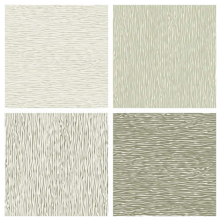 Set of seamless patterns with wooden texture.