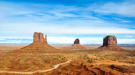 tribal park: Classic View of Monument Valley Tribal Park, Arizona  Stock Photo