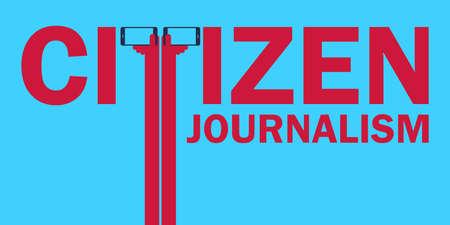 Citizen journalism concept illustration.