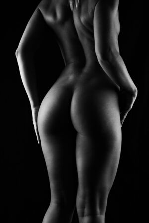 back view of naked women Imagens