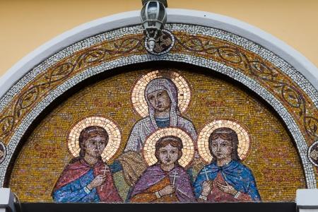 geloof hoop liefde: Mozaïek Geloof, Hoop, Liefde en Sophia Tempel van Geloof, Hoop, Liefde en Sophia XIX eeuw architectonisch monument