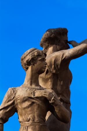 alexandra: The monument to the royal family, who was shot in Ekaterinburg. Alexandra and Anastasia