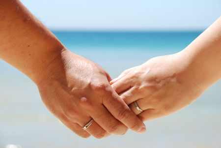ever: Hold hands for ever Stock Photo