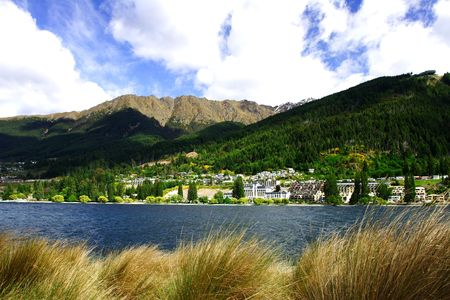 lakeview: Queenstown lakeview Stock Photo