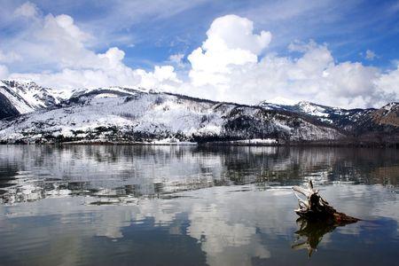 jackson: Jackson Lake Grand Teton Stock Photo