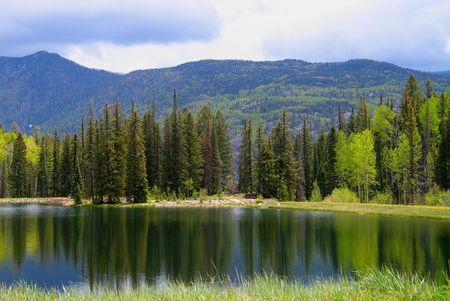 vue sur le lac paisible Banque d'images
