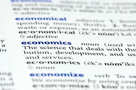 definition define: economics