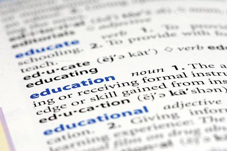 definition define: education