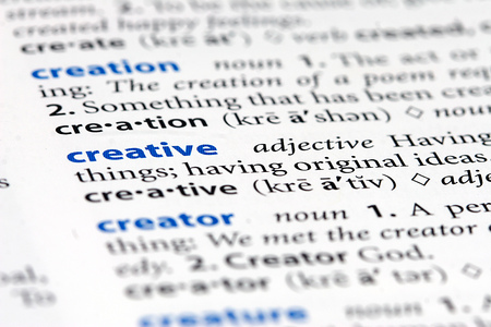 definition define: creative Stock Photo