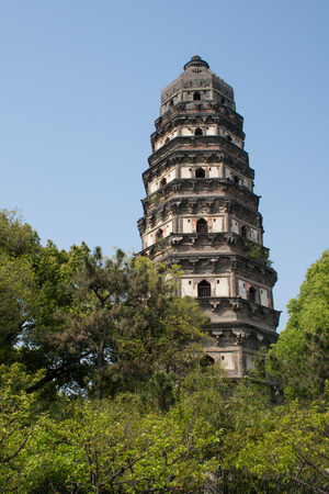 Tower of temple of YunYan vision