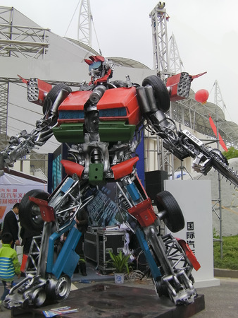Stand of transformers