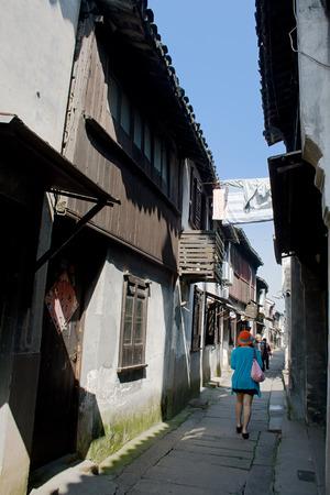 Jiangnan Town Lane and visitors