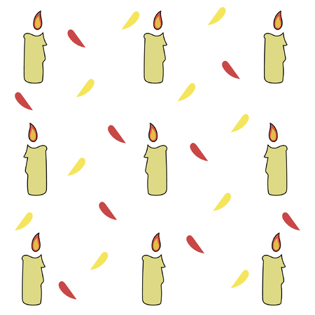Burning festive candle pattern.