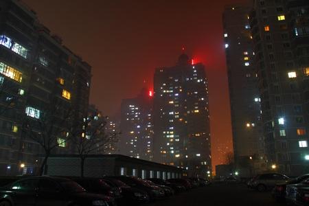 beijing: Beijing district Night Stock Photo