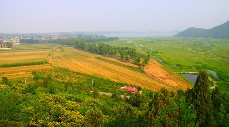 cropland: The original ecological landscape of Huairou reservoir and cropland.