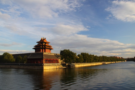 turret: Palace turret under sunset