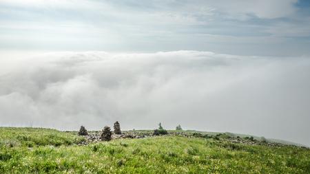 China Hebei Heilongshan Meadow Landscape Stock Photo