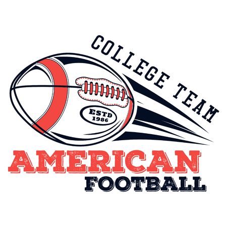 A Vector logo american football college team for design, print and internet on white background Logo