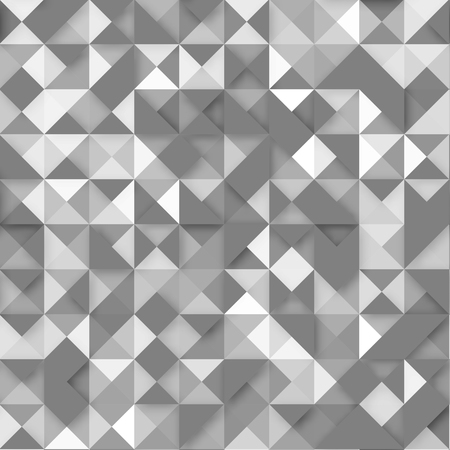 Triangles of different transparency with an effect overlay on a gray for your design, print and internet Ilustração
