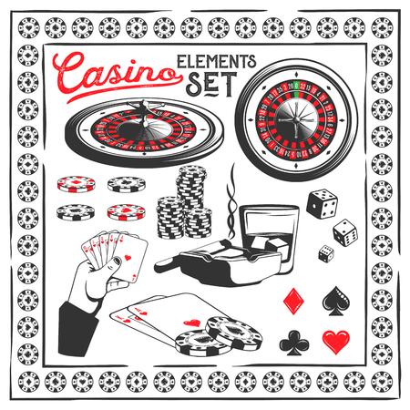 Set of casino elements Иллюстрация