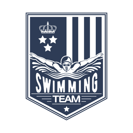 Design swimming badge for print on T-shirts