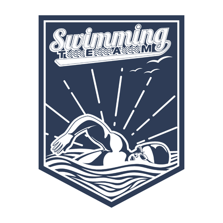 Design swimming badge for publications