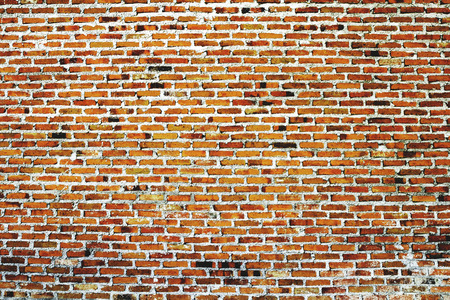 red wall: old red brick wall texture and background Stock Photo