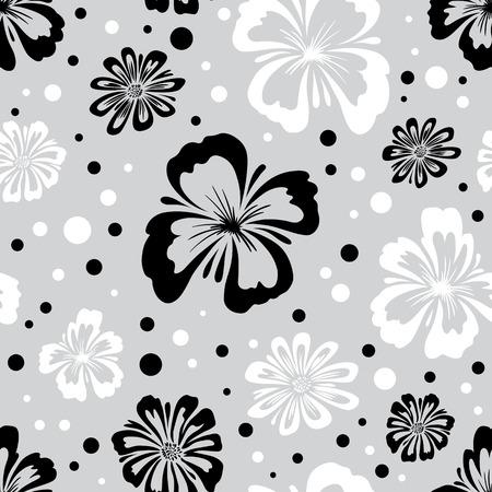 野生の花のシームレスなパターン。無限の花のテクスチャです。花の壁紙。