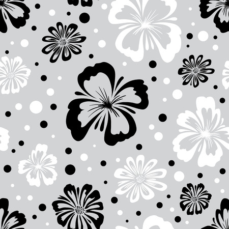 Seamless pattern of wild flowers. Endless floral texture. Floral wallpaper. Illustration