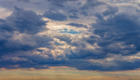 background, panorama of the sky with dramatic clouds Stok Fotoğraf