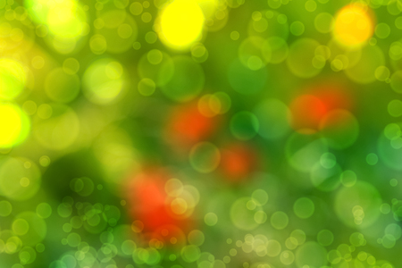 blurry abstract background with bokeh effect, poppies in the grass