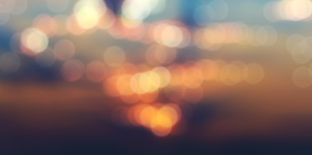 panorama, blurry abstract background with bokeh effect, sunset and sunrise Stok Fotoğraf
