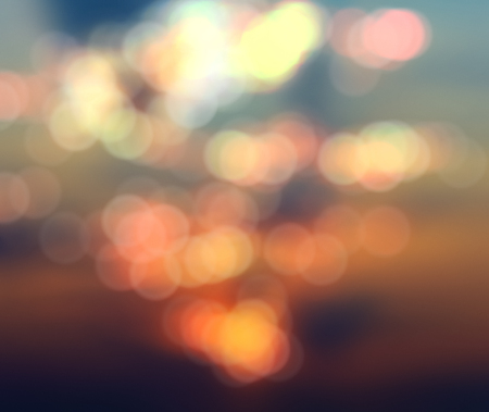 blurry abstract background with bokeh effect, sunset and sunrise Stok Fotoğraf