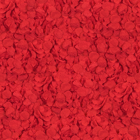 seamless texture from paper petals of flowers red color