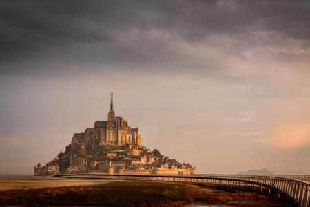 Sunrise at mont saint michel
