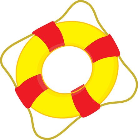 a life saving swimming tube. Illustration