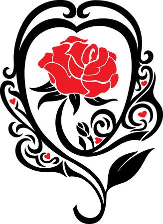 a decorative tattoo of a rose