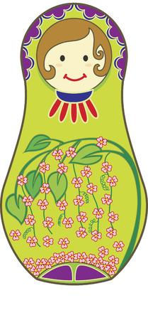 matryoshkas: Un resumen de matryoshkas decorativas. Vectores