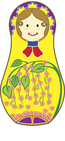 matryoshkas: Un resumen de matryoshkas decorativos.