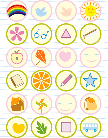 School stuff and others Vector