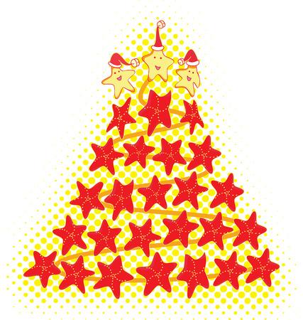 fish star: Estrella de los �rboles de Navidad de Fish