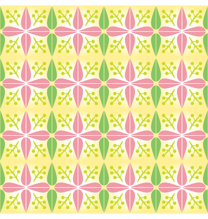 Seamless pattern with organic shapes and spring color. Stock Vector - 7051724