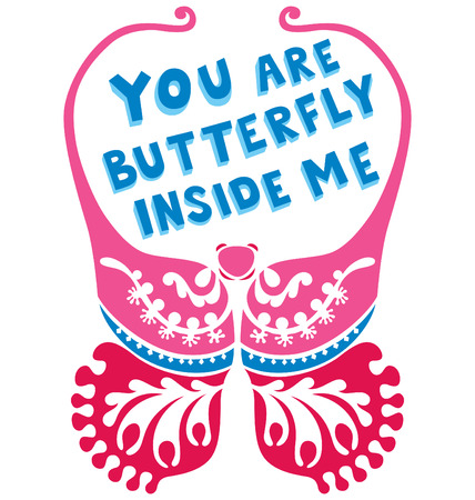 wording: A decorative butterfly with wording