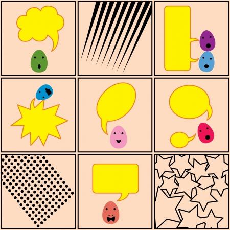 Une bande dessinée de ?uf parler avec la bulle de conversation vide qui vous pourrait remplir si vous le souhaitez, grands pour Pâques travaillent projet.
