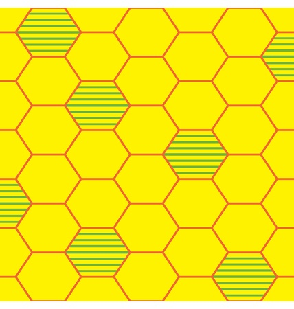 bee hive: A depiction of bee hive illustrated into organized seamless pattern. Illustration